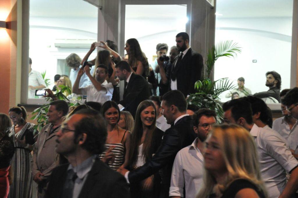 I numerosi ospiti giunti per la riapertura di Giuseppone a mare