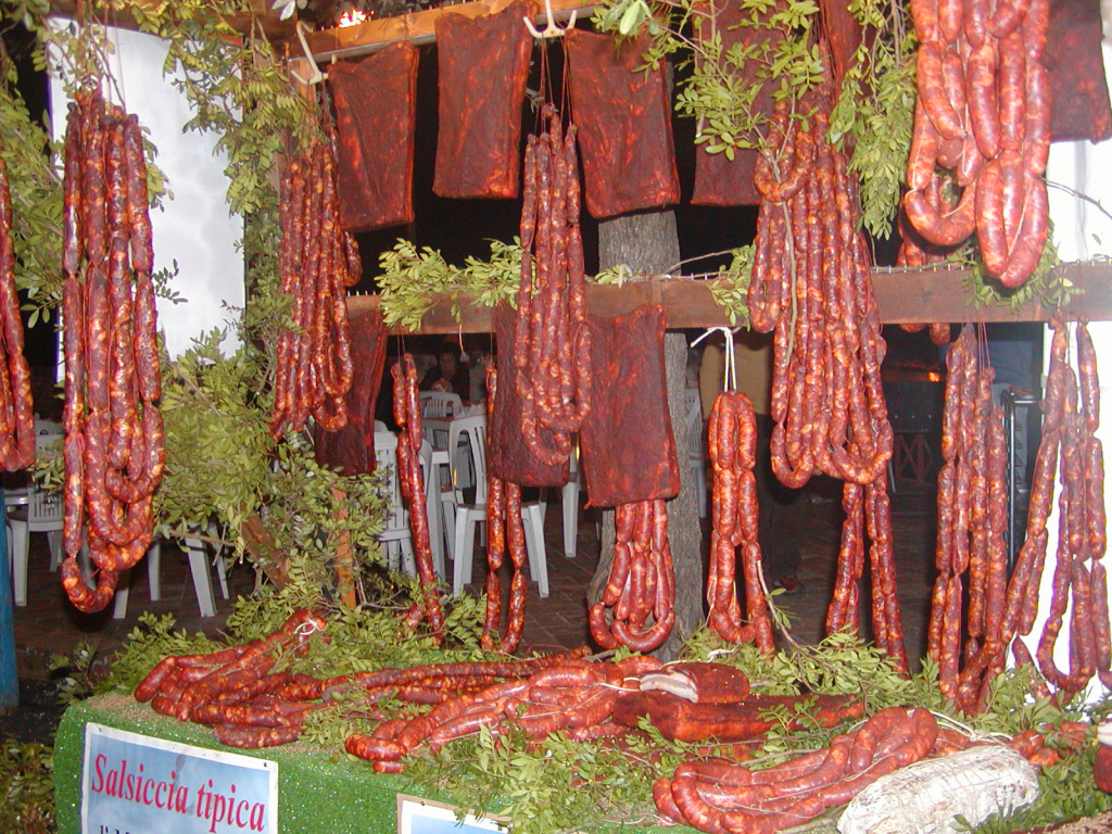 salsicce al coriandolo Monte SanBiagio