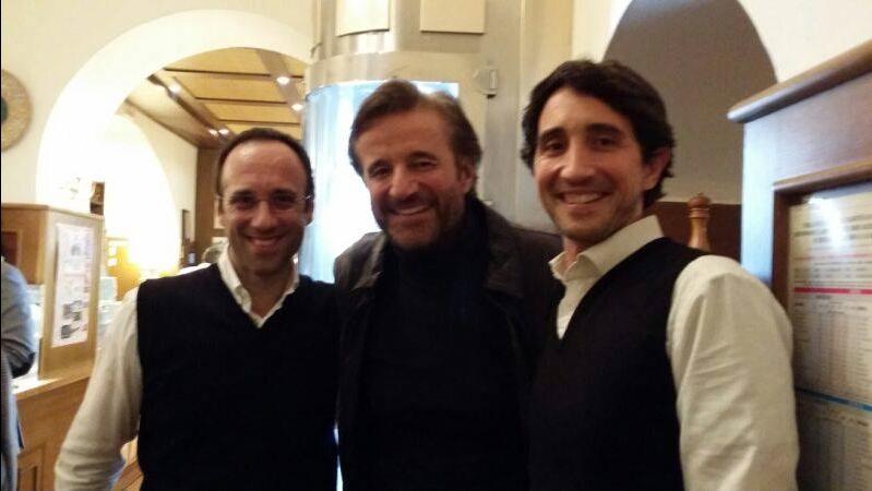 Fabio Moranti (a sinistra) - De Sica -