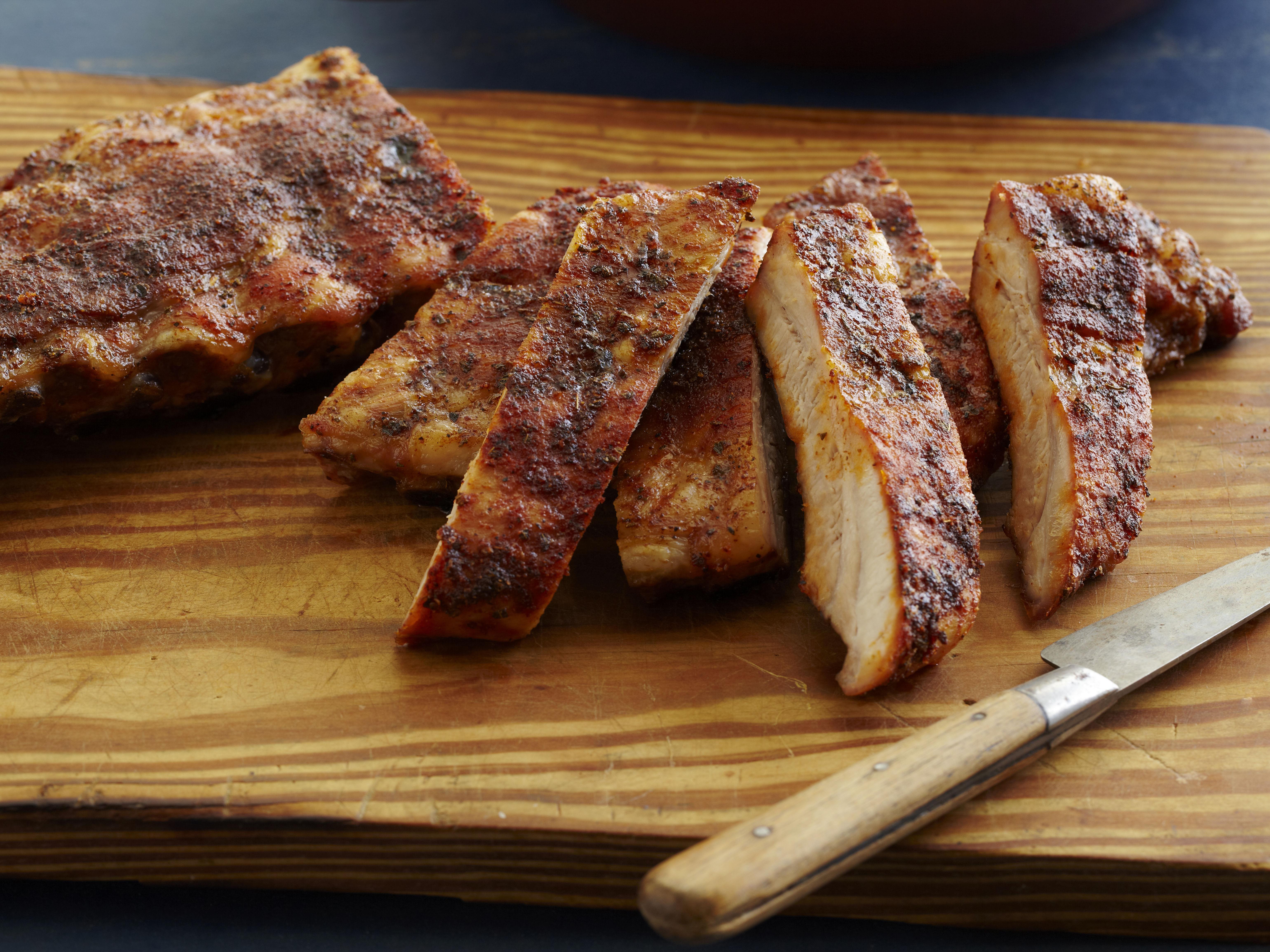 Geografia del barbecue americano - dry ribs