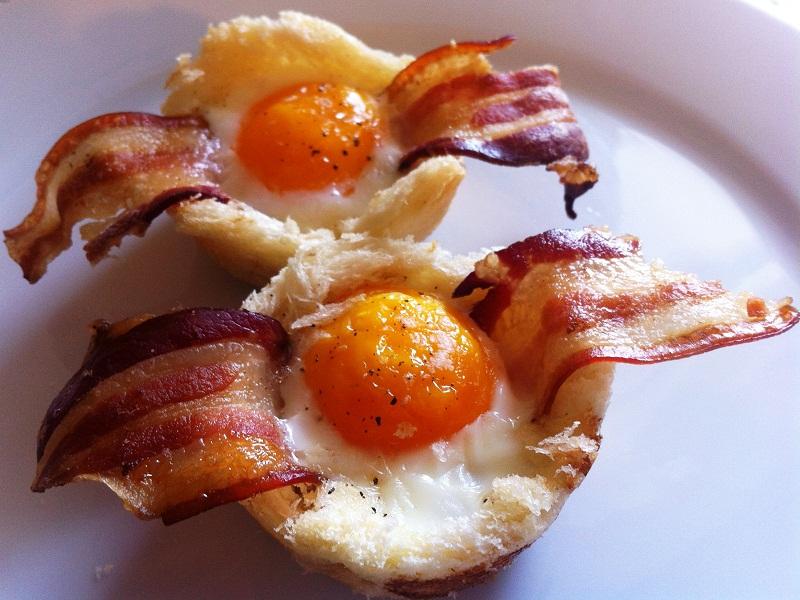 cestini di uova e pancetta