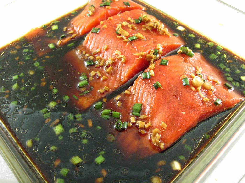 salmon-in-marinade