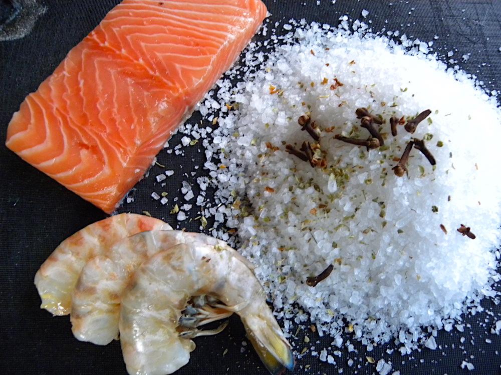 gli ingredienti della pasta di sale